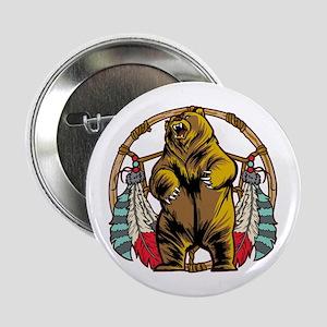 """Bear Dream Catcher 2.25"""" Button"""
