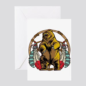 Bear Dream Catcher Greeting Card