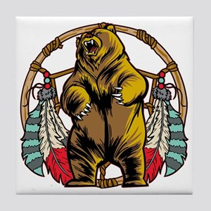 Bear Dream Catcher Tile Coaster