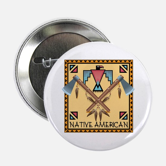 "Native American Tomahawks 2.25"" Button"
