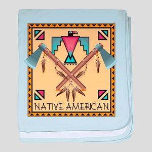 Native American Tomahawks baby blanket