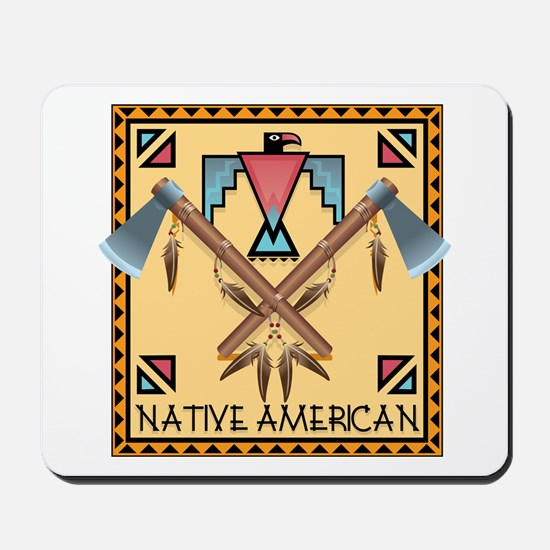 Native American Tomahawks Mousepad