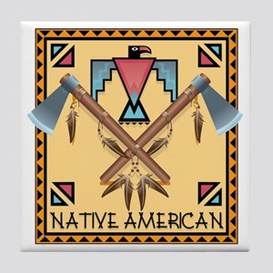 Native American Tomahawks Tile Coaster