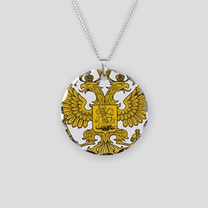 Eagle Coat of Arms Necklace Circle Charm