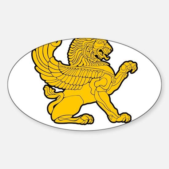Persian Lion Sticker (Oval)