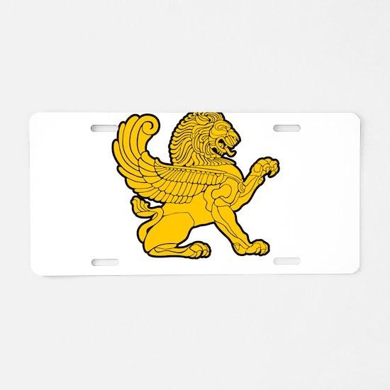 Persian Lion Aluminum License Plate