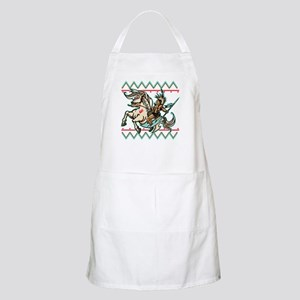 Indian Warrior on Horse Apron