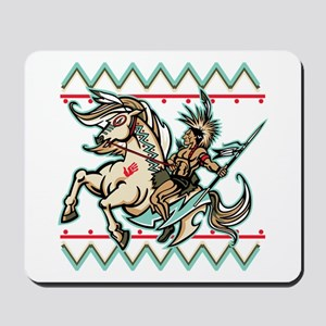 Indian Warrior on Horse Mousepad