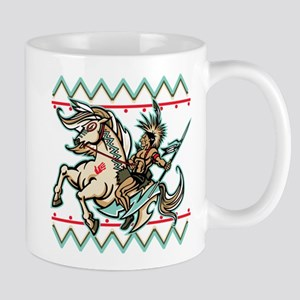 Indian Warrior on Horse Mug