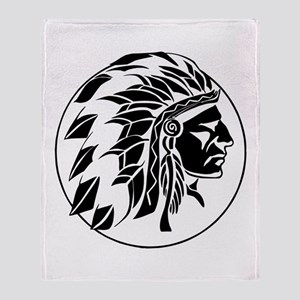 Indian Chief Head Throw Blanket