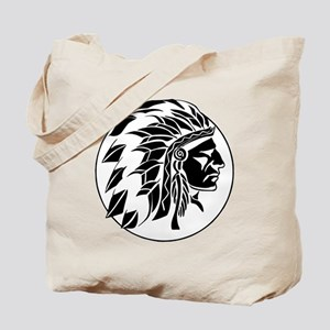Indian Chief Head Tote Bag