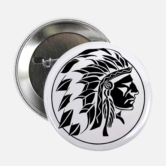 "Indian Chief Head 2.25"" Button"