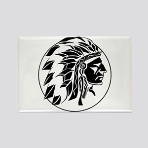 Indian Chief Head Rectangle Magnet