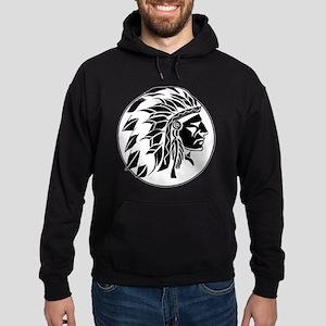 Indian Chief Head Hoodie (dark)
