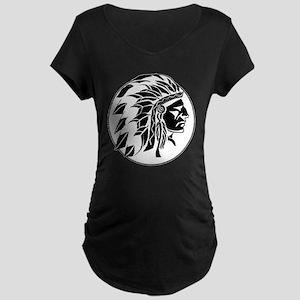 Indian Chief Head Maternity Dark T-Shirt