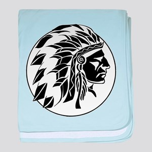 Indian Chief Head baby blanket