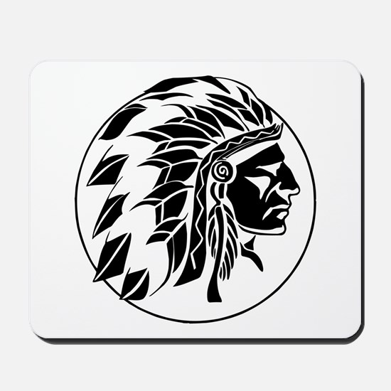 Indian Chief Head Mousepad