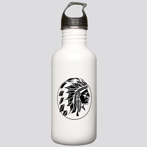 Indian Chief Head Stainless Water Bottle 1.0L