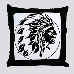 Indian Chief Head Throw Pillow