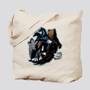 Native American Indian and Wildlife Tote Bag