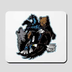 Native American Indian and Wildlife Mousepad