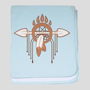 Brown Dreamcatcher baby blanket