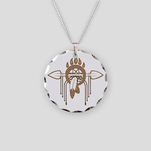 Brown Dreamcatcher Necklace Circle Charm