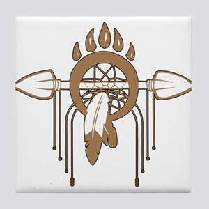 Brown Dreamcatcher Tile Coaster