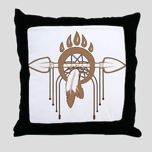 Brown Dreamcatcher Throw Pillow