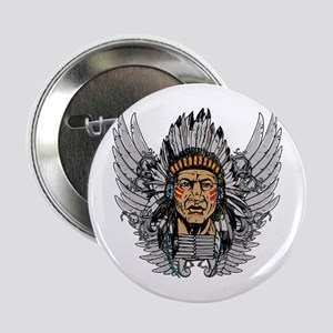 "Indian Chief Wings 2.25"" Button"
