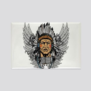 Indian Chief Wings Rectangle Magnet