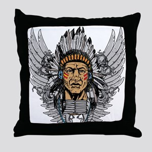 Indian Chief Wings Throw Pillow