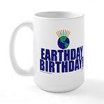 earthday_Birthday Large Mug