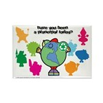 Have you been a Planetpal, today? Rectangle Magnet