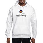 War Peace symbol Hooded Sweatshirt