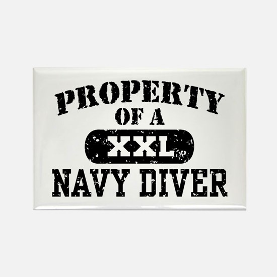 Property of a Navy Diver Rectangle Magnet