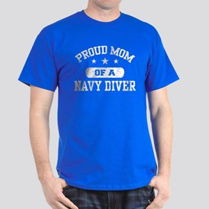 Proud Navy Diver Mom Dark T-Shirt