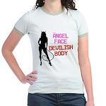 Angel face.... Jr. Ringer T-Shirt