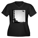 UFO Photography 5 Women's Plus Size V-Neck Dark T-