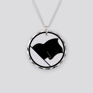 Anarchist's Flag Necklace Circle Charm