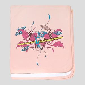 Butterfly Flute baby blanket