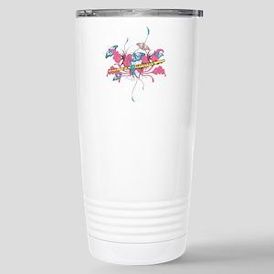 Butterfly Flute Stainless Steel Travel Mug
