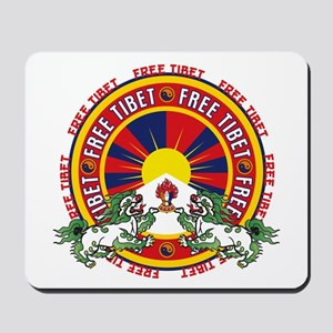 Free Tibet Snow Lions Mousepad