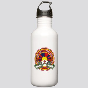 Free Tibet Snow Lions Stainless Water Bottle 1.0L