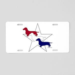Patriotic Doxies Aluminum License Plate