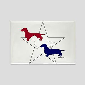 Patriotic Doxies Rectangle Magnet