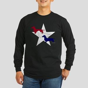 Patriotic Doxies Long Sleeve Dark T-Shirt