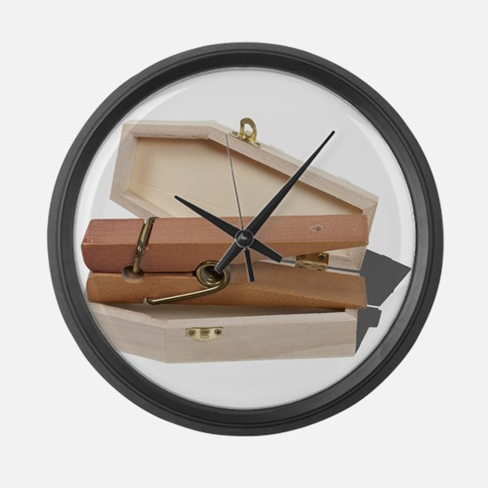 When Chores Die Large Wall Clock