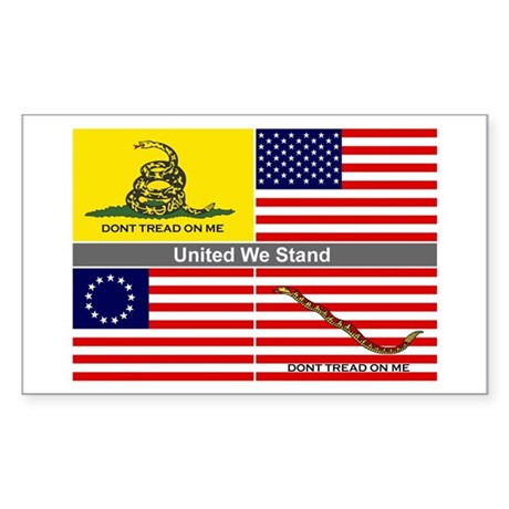 United We Stand Rectangle Sticker