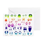 Rainbow Animal Tracks Greeting Cards (Pk of 10)